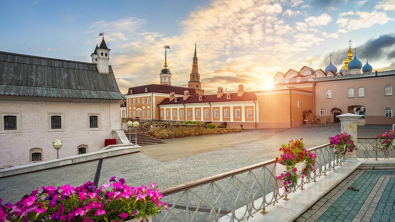 Казанский Кремль на закате
