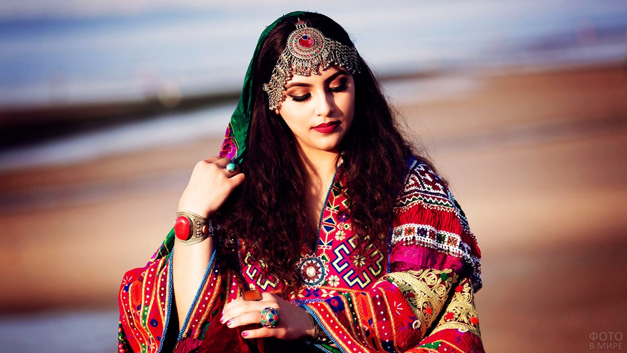 Афганская невеста в национальном наряде