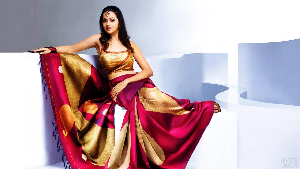 Модное сари из последней коллекции