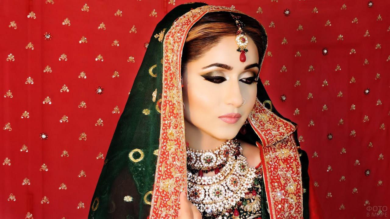 Пакистанский макияж невесты