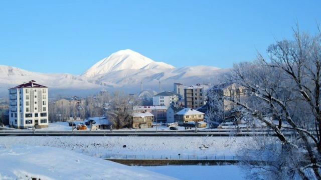Городок Агры зимой