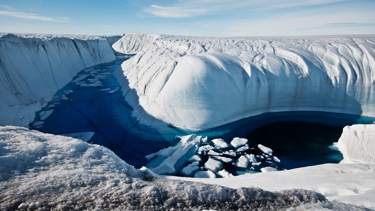 Подтаявший ледниковый щит
