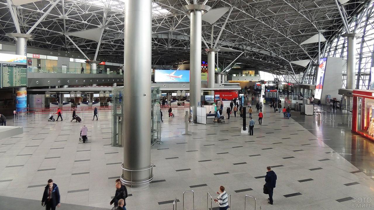 Общий зал терминала А