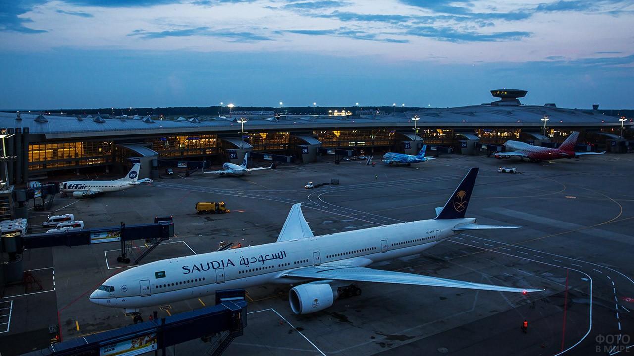 Пассажирские самолёты с телескопическими трапами
