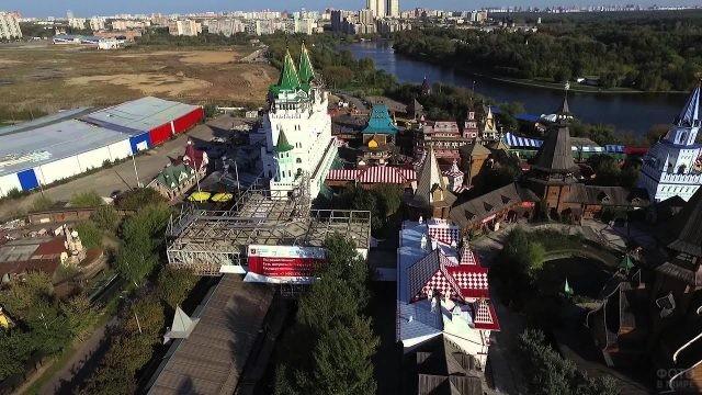 Вид сверху на Измайловский Кремль