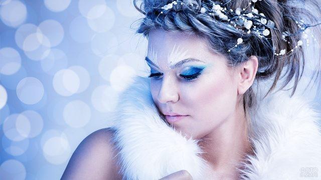 Художественный макияж в ледяном стиле