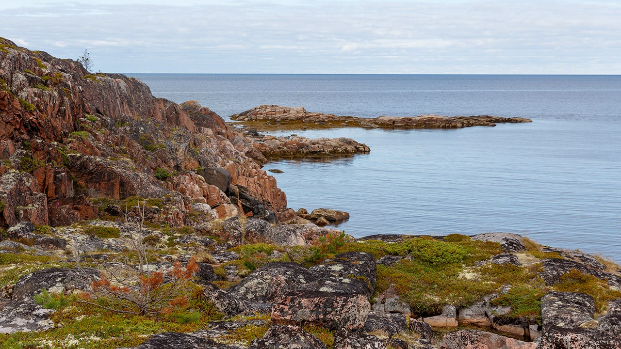 Морской пейзаж с острова Черемшиха