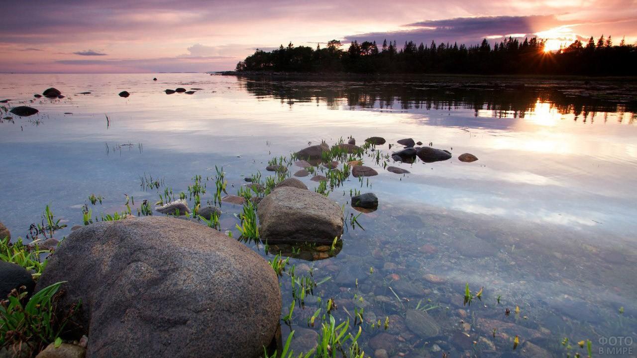 Закат над Соловецкими островами
