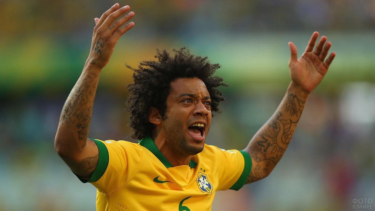 Марсело в сборной Бразилии на ЧМ-2018