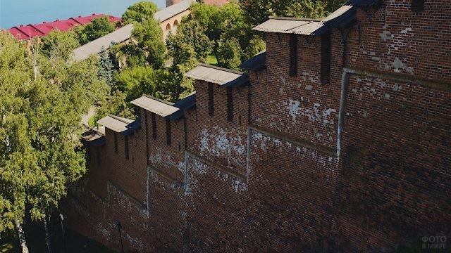 Перепад кремлёвской стены
