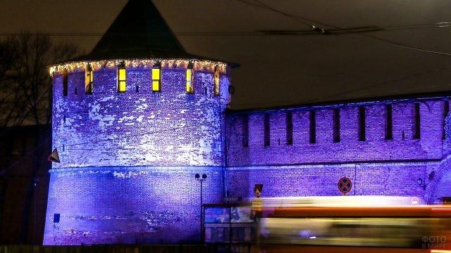 Уникальная подсветка башни
