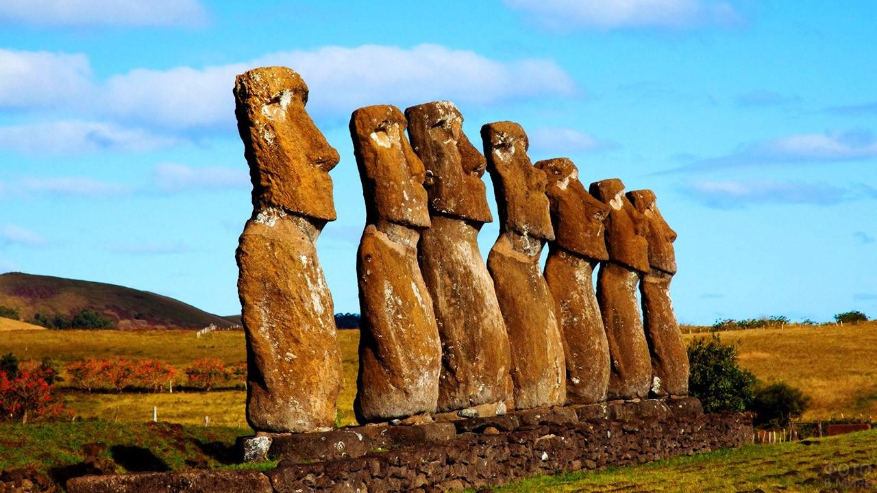 Каменные статуи острова Пасхи