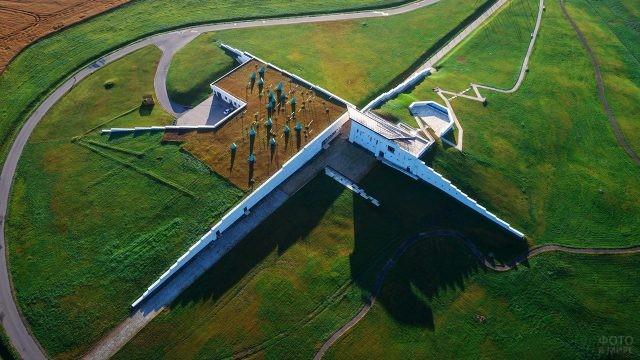 Аэропанорама музейного комплекса в Моховом
