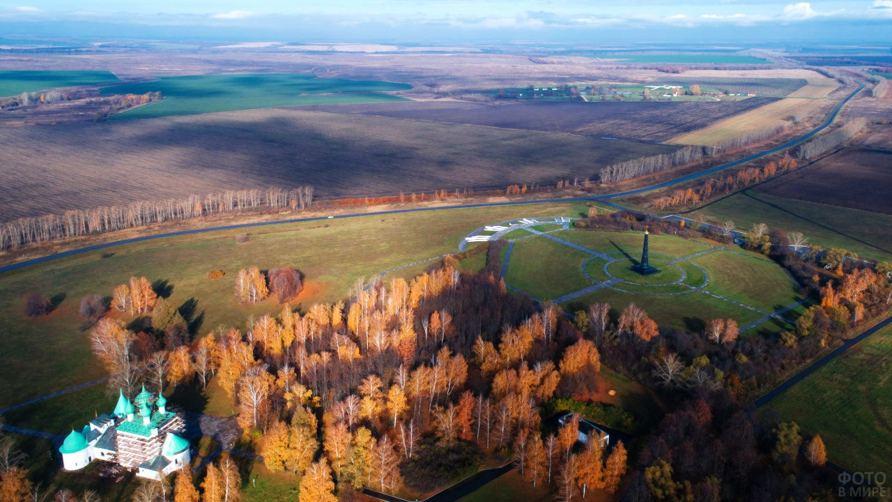 Осенняя панорама Красного холма