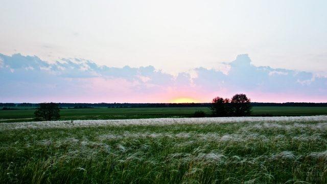 Рассвет над Куликовым полем в Тульской области
