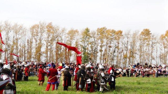 Реконструкция битвы московского князя Дмитрия Ивановича и войска Мамая