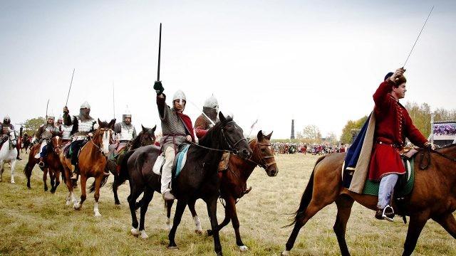 Участники реконструкции Куликовской битвы