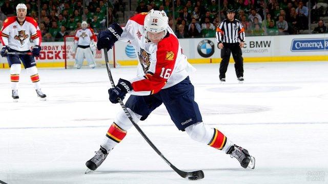 Игрок НХЛ с шайбой