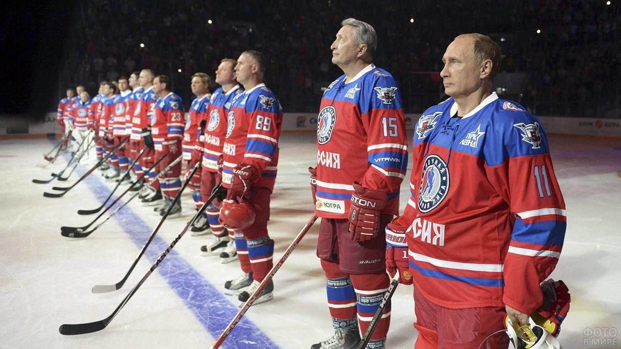 Президент на открытии Ночной хоккейной лиги в Сочи