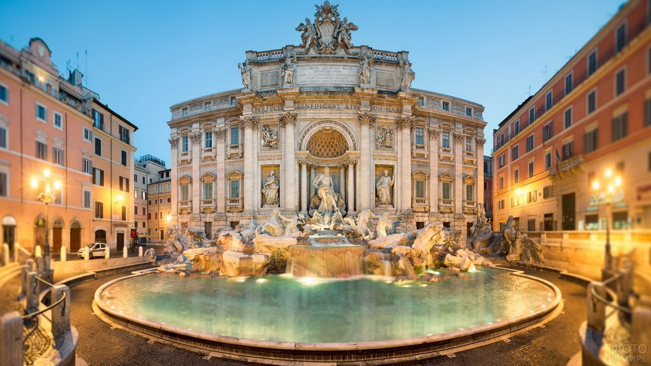 Панорама улицы в Риме
