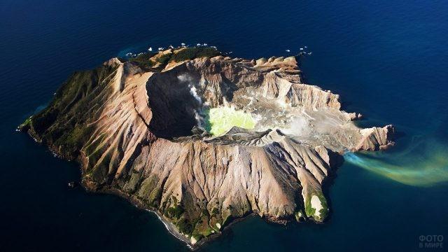 Аэропанорама вулкана Уайт-Айленд