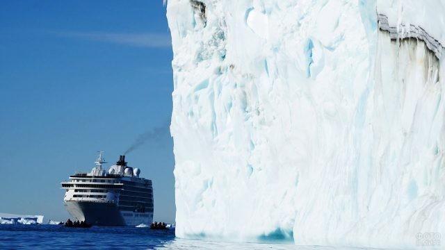 Ледяной шельф Росса, входящий в состав Королевства Новой Зеландии