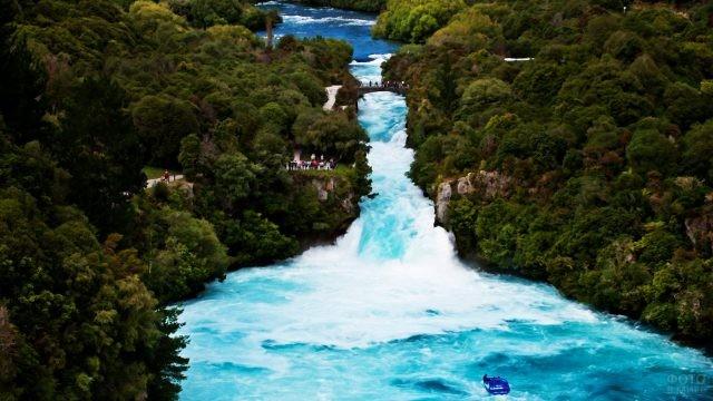 Панорама водопадов Хука