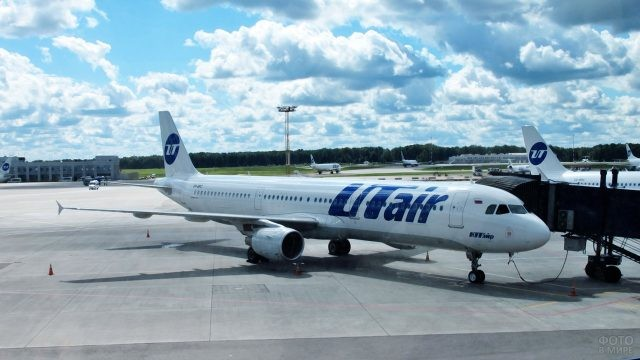 Посадка на самолёт компании Ютэйр