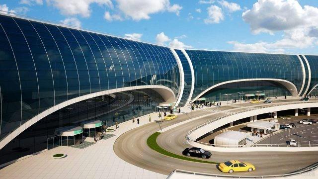 Современный фасад аэровокзала