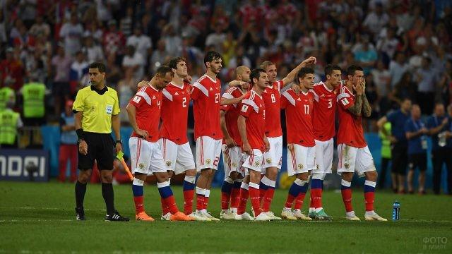 Расстроенные игроки сборной после матча с Хорватией, ЧМ-2018