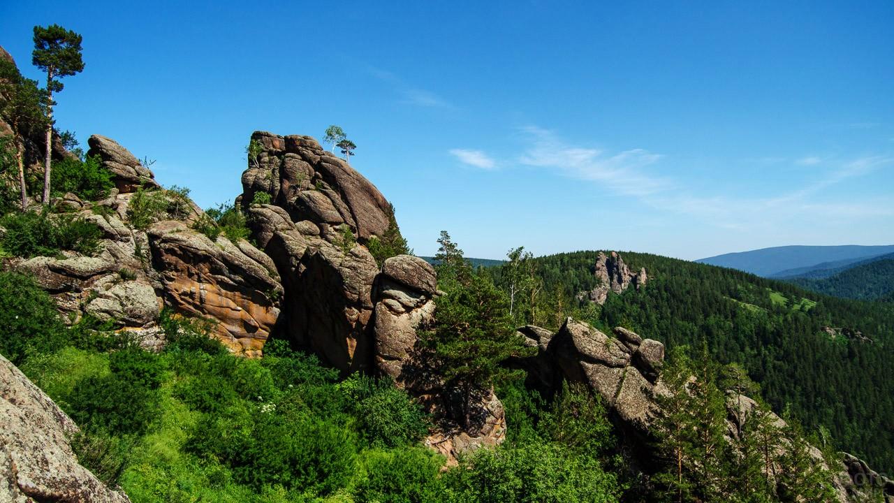 Вид с вершины скалы Ермак