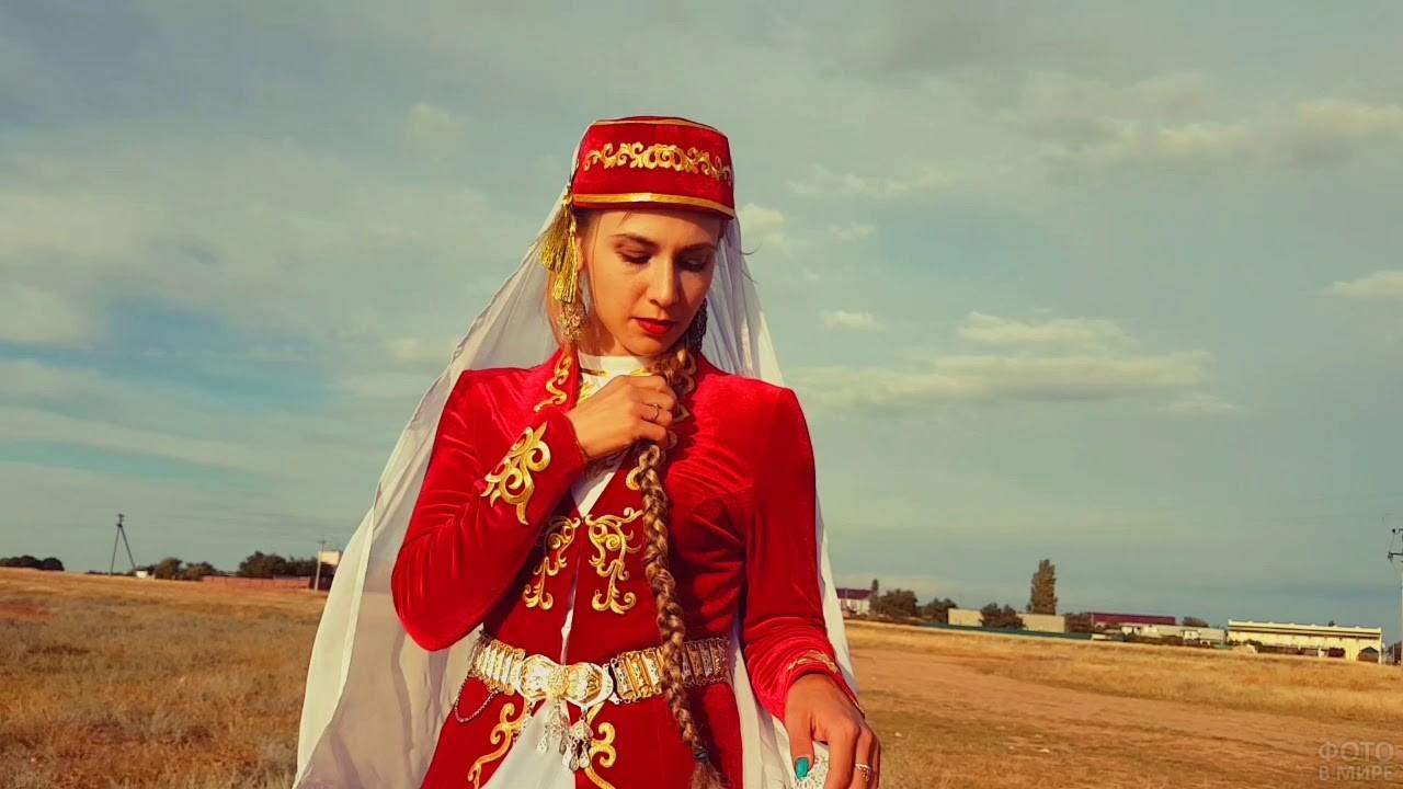 Девушка в Крыму