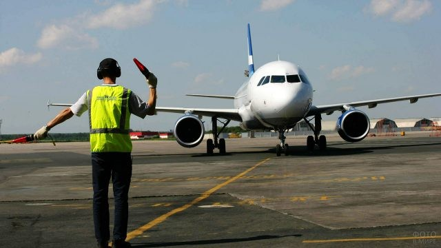Авиатехник сажает самолёт