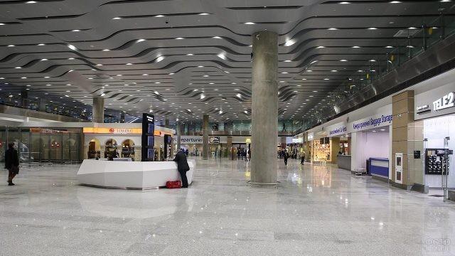 Зона прилёта в новом терминале
